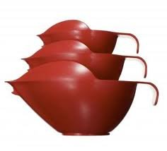 Pourfect Original Spill-Proof 6, 8 And 12 Cup Mixing Bowl Set, Empire Red front-460984
