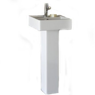 Great Features Of Porcher 24620-00.001 Solutions Square Pedestal Lavatory Kit with Single Faucet Hol...