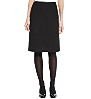M&S Collection Knee Length A-Line Skirt with Wool