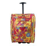 Womens Mens Girls Wheeled Hand Cabin Flight Bag 22inch Suitable For Ryanair Easyjet Bmi Ba Virgin 55 X 40 X 20 Cm Yellowgold With Multi Colour Flowers Theses Wheeled Maternityovernight Bags Are Ideal For Packing All Your Essential Hospital Items For Both