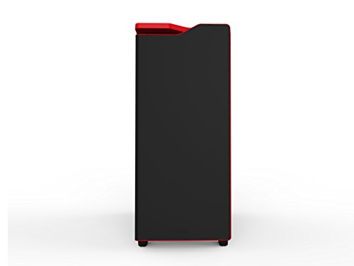 NZXT H440 Mid Tower Case (Matt Black/Red /w Window)