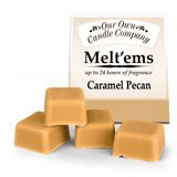 1 package 4 pieces Caramel Pecan candle tart wax melt ems