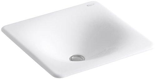 KOHLER K-2827-0 Iron/Tones Cast Iron Bathroom Sink, White (Kohler Iron Tones compare prices)