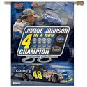 Jimmie Johnson 4 in a Row Champion Banner by WinCraft