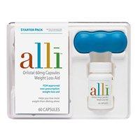 Alli 60 Caps Starter Kit - Weight Loss Aid, 60 caps,(GlaxoSmithKline)