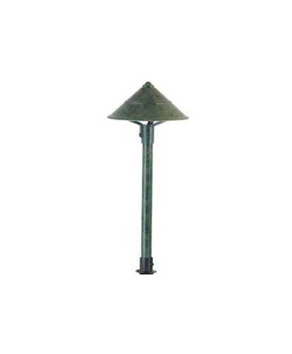 Hubbell Lighting Co-Ag Led Decorative Cone Lightscaper Fixture, Antique Green Finish