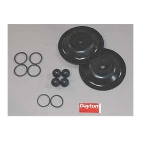 Dayton 6PY67 Pump Repair Kit, Fluid