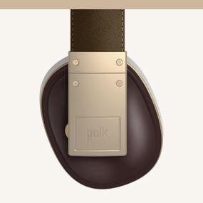 Polk buckle over-ear headphones with 3-buttin remote
