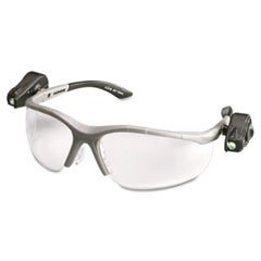 3M 114760000010 Lightvision Safety Glasses W/Led Lights, Clear Antifog Lens, Gray Frame