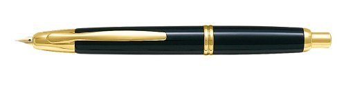 Pilot Capless Medium Retractable Fountain Pen with Gold Trim
