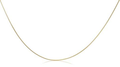 9ct Yellow Gold Round Snake 46cm Chain