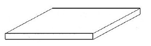 "Black Styrene Sheets, .08x6x12"""