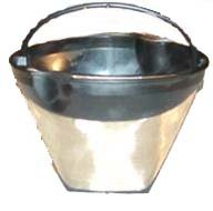 Gold Tone Reusable #4-UGSF4 10-12 Cup Coffee Filter with Handle