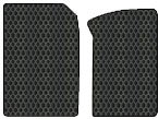 Porsche 911 Custom-Fit All-Weather Rubber Floor Mats 2 Pc Fronts - Convertible|Carrera - 996 Carrera|With Bose Sound - Black (2005 05 ) Amspgcp435111||801Okkcc