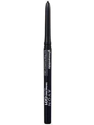 Avon GLIMMERSTICKS Eye Liner Blackest Black