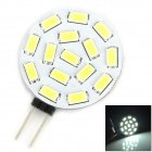 G4 2.2W 210Lm 7500K 15-5730 Smd Led White Light Reading / Instrument / Indicator Lamp (12~24V)