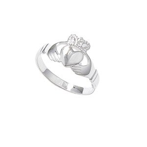 Sterling Silver Claddagh Ring - Size R