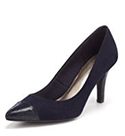 M&S Collection Pointed Toe Cap Court Shoes with Insolia®