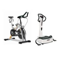 Bladez Fitness ABPJET Vibration Platform and Jet Bike Exercise Cycle Two Piece Set