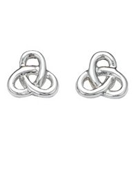 Kit Heath Rounded Double Trinity Knot Post Earrings