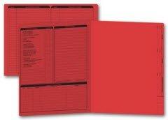 Letter Size Real Estate Listing Folder Left Panel - Red