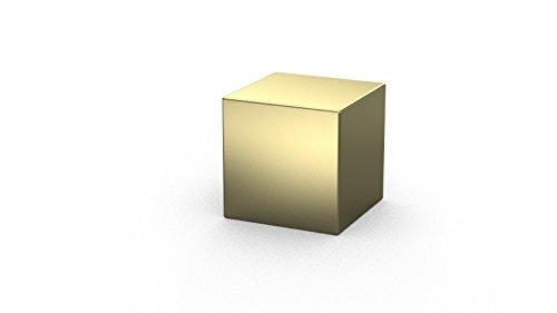 10 x Cubi magnetici al Neodimio 8 x 8 x 8 mm | Dorato (NiCuNiAu) | Forza di attrazione circa: ~ 4.5 kg | 10 pz. Cubo magnetico