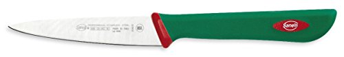 "Sanelli Premana Professional Line Paring Knife, 4"", Silver/Green"