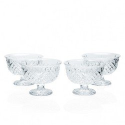CRYSTAL GIFTWARE S/4 ALL PURPOSE BOWLS-DUBLIN (Godinger Ice Cream Dishes compare prices)