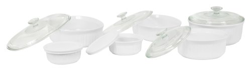 CorningWare 6109785 French White 12-Piece Bake and Serve Set