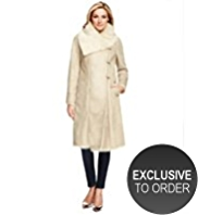 M&S Collection Faux Shearling Duffle Long Coat