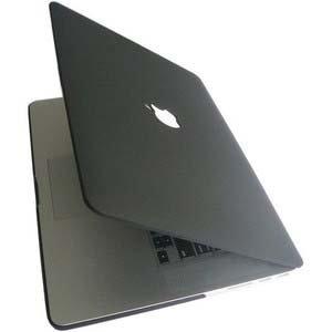 Mac Book Pro 15.4インチ マット つや消し ハード ケース ブラック 黒 + トラックパッド保護フィルム セット