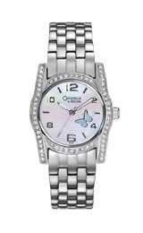 Caravelle Crystal Collection Mother-of-Pearl Dial Women's Watch #43L129