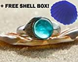 Sterling Silver Mako Mermaids Show Ring Mako Aqua Size 4