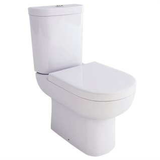 Aqua Ceramics Roma Close Coupled Toilet inc. Soft Close Seat