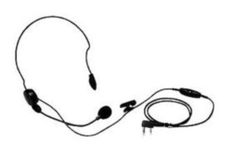 Kenwood Behind-The-Neck Headset With Boom Mic For Two-Way Radios
