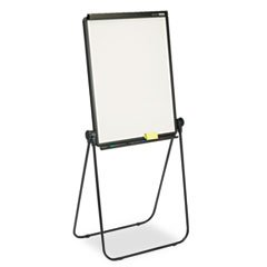 Total Erase Presentation Dry-Erase Easel, 26 x 34, White, Black Steel