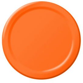 Orange Peel Big Party Pack Dessert Plates (50)