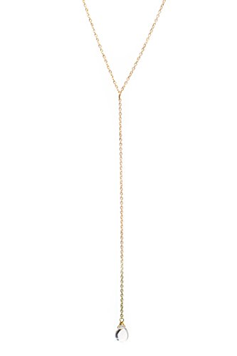 Gold-Necklace-14K-Gold-Dipped-Y-Necklace-18-Water-Droplet-Pendant-Dainty-Hand-Wrapped-Celebrity-Approved-Eco-Friendly-Lariat-Style-By-Benevolence-LA