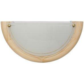 Wandleuchte Holz Kiefer Glas opal Breite 30cm