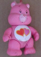 "Care Bear Pink With (2) Hearts 3-1/2"" Tall"