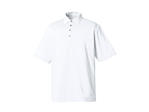 FootJoy Diamond TextuRed Jacquard Self Collar Golf Polo 2016 White Large