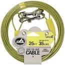 Pet Champion Small Tie Out Cable for Dogs Up to 35-Pound