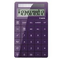 Cheapest Prices! Canon X Mark I Premium 12 Digit Desktop Calculator, Purple