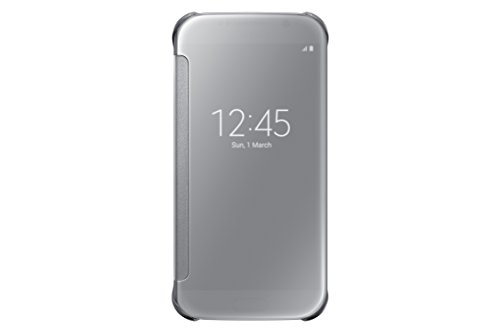 Samsung S-View Flip Cover for Samsung Galaxy S6 - Clear Silver