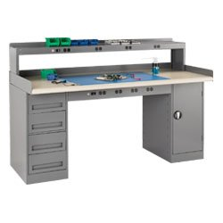TENNSCO Workbench Components and Accessories - Gray