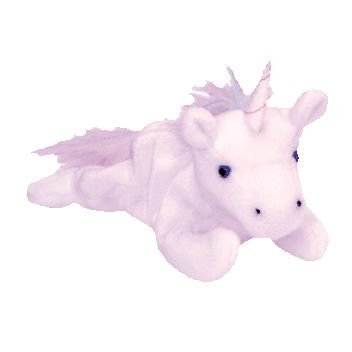 TY Beanie Baby - MYSTIC the Unicorn (irredescent horn & furry mane) - 1