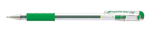 Pentel - Bolígrafo de punta fina (0,6 mm, tinta de gel verde)