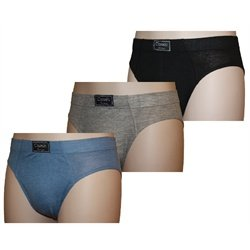 Mens CLASSIC Cotton BRIEFS slips Underwear 3 PK