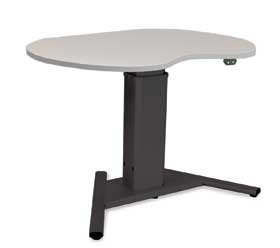 """Dss Height-Adjustable Tables, Electric, Kidney (Al-710670 26""""Wx39""""L)"""