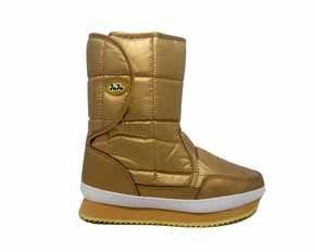 Juju gold velcro side Snow boots